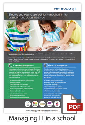 Managing IT in a school - with NetSupport DNA