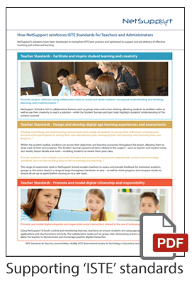 Supporting ISTE standards
