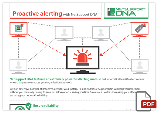Proactive alerting - with NetSupport DNA