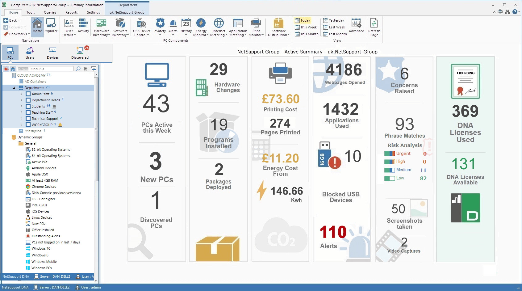Netsupport Dna For Schools Screenshot Gallery Remote Power Manager