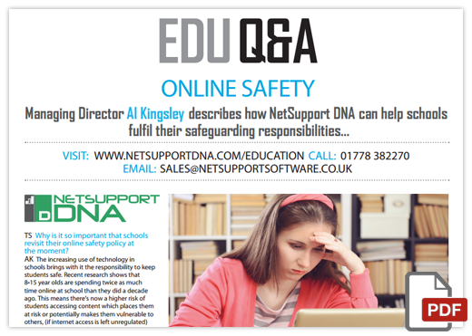 Online safety - with NetSupport DNA
